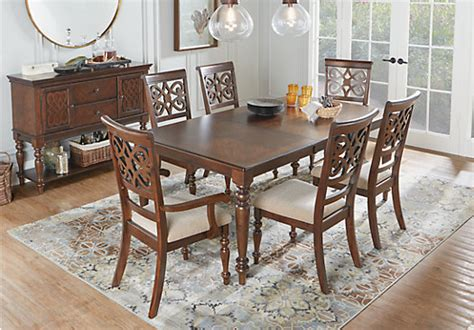 rectangle dining room sets balboa heights cherry 5 pc rectangle dining room traditional
