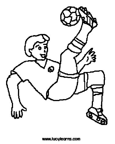 football guy coloring page kicking a football soccer coloring pages soccer ball kick