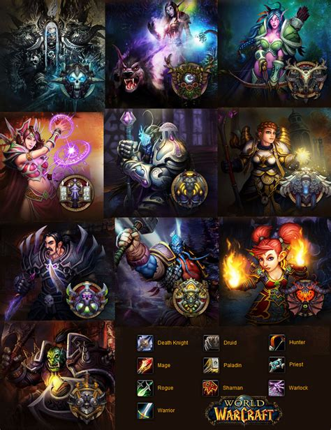 world class wallpaper wow classes by ternvall on deviantart