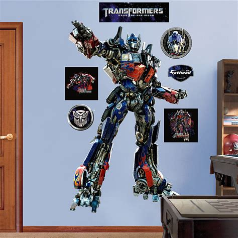 transformers wall stickers fathead transformers optimus of moon decal