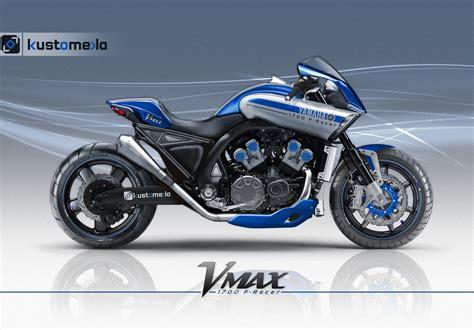Kaos Motor Kawasaki Cornering Design Inikaosmu racing caf 232 design corner yamaha vmax 1700 f racer by kustomeka