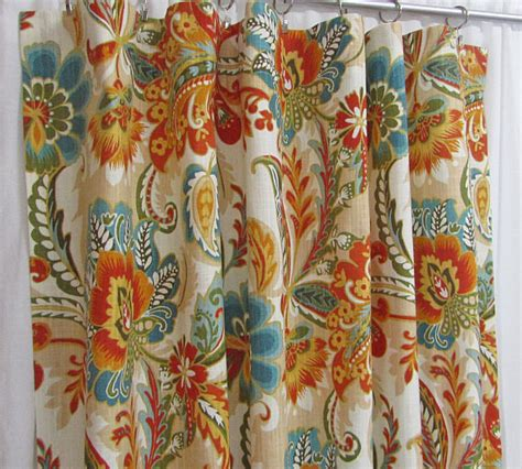 bright teal curtains teal orange curtains bright floral curtains traditional