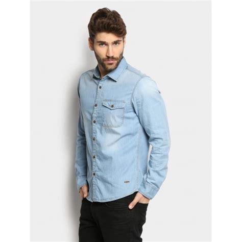light blue denim mens buy abof light blue denim shirt looksgud in