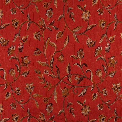 brocade upholstery a0011g red brown gold and ivory floral brocade