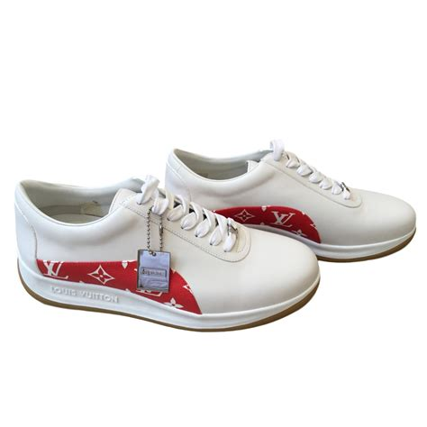 Converse Lv Supreme White louis vuitton supreme sneakers sneakers leather white ref 47440 joli closet