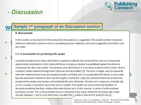 how to write discussion scientific paper elsevier author workshop how to write a scientific paper