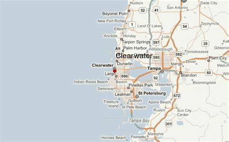 map of clearwater florida clearwater location guide