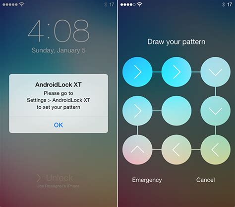pattern unlock cydia how to create a wonderful lock screen on ios 7 redsn0w