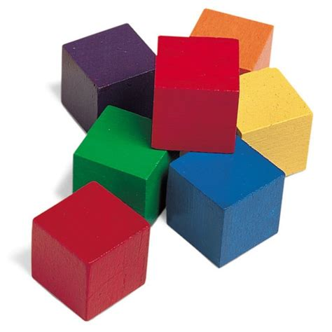 colored blocks learning resources one inch color wooden cubes 102