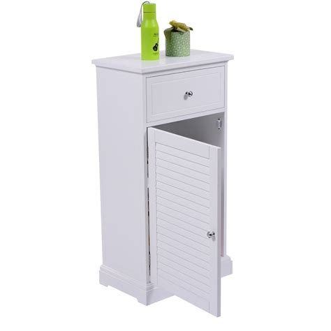 Cabinet Door Organizers Bathroom Storage Floor Cabinet Shutter Door Bathroom Cupboard Shelf Organizer White Ebay