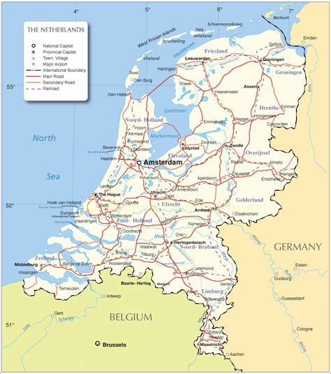map netherlands and printable netherlands map map of netherlands netherlands