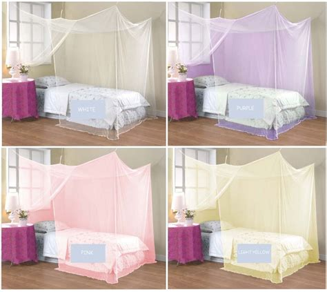 king size bed tent 4 corner poster student family use canopy bed mosquito net