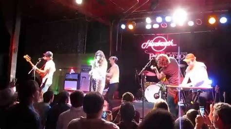 rev room arkansas houndmouth clear plastic masks quot runaround sue quot live at rev room 2015