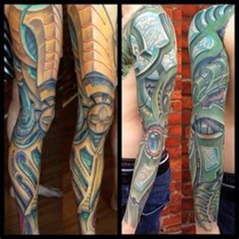 biomechanical tattoo http 16tattoo com freehand calf muscle skin tear tattoo http 16tattoo