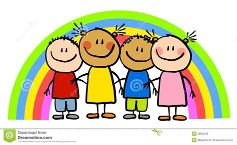 rainbow children the art 1616558334 mi 250 dos infanteis do arco 237 ris do desenho ilustra 231 227 o stock ilustra 231 227 o de friendship arte 5894546