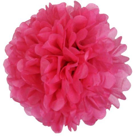 Pom Poms Tissue Paper - tissue paper pom pom flower 6inch shocking pink