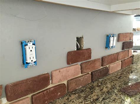 veneer kitchen backsplash do it yourself brick veneer backsplash remington avenue
