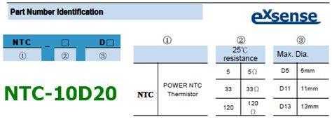 ntc thermistor parameters ntc 10d20 datasheet 10ohm 20mm ntc thermistor
