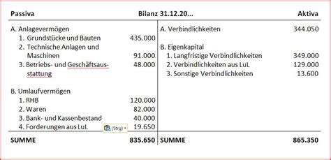 bilanz bank der inventarliste zur bilanz buchf 252 hren lernen