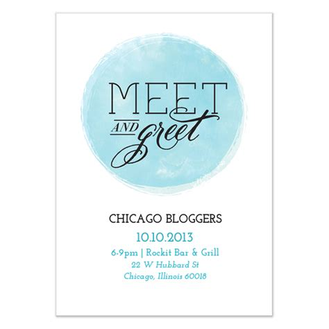 Sle Invitation For Meet And Greet Circle Meet And Greet Invitations Cards On Pingg