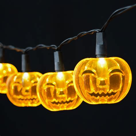 pumpkin led string lights battery operated 10 lights