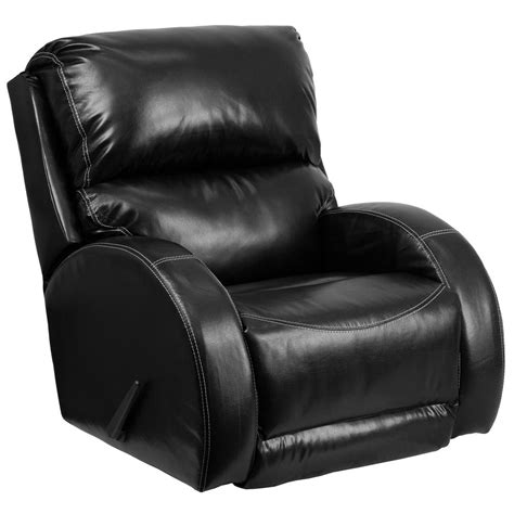 black leather rocking recliner flash furniture contemporary ty black leather rocker