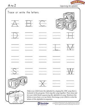 printable worksheets for jr kg writing the alphabet worksheets free to z printable