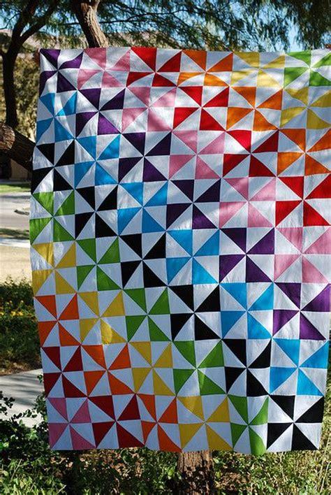 quilt pattern rainbow rainbow pinwheels quilt quilting pinterest