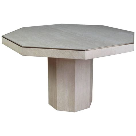 Octagonal Dining Table Octagonal Travertine Italian Dining Table At 1stdibs