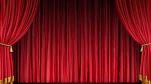 Black And Red Curtains For Living Room by Motorized And Electric Luxury Red Stage Curtains For