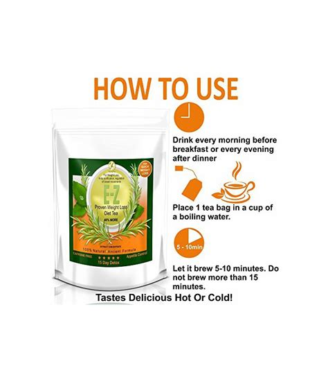 15 Day Detox Tea by Ez Detox Diet Tea 15 Day Detox Naturel Poids