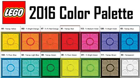 lego colors lego 2016 color palette every color of lego exclusive