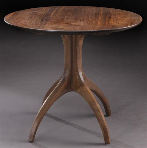 large round accent table sam maloof large round walnut end table
