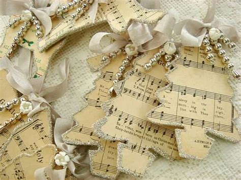 sheet music ornaments crafts pinterest