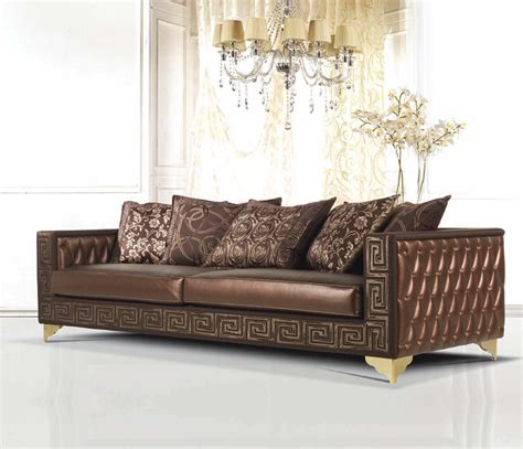 Luxurious Brown Leather Tufted Traditional Sofas Tuxedo Luxurious Leather Sofas