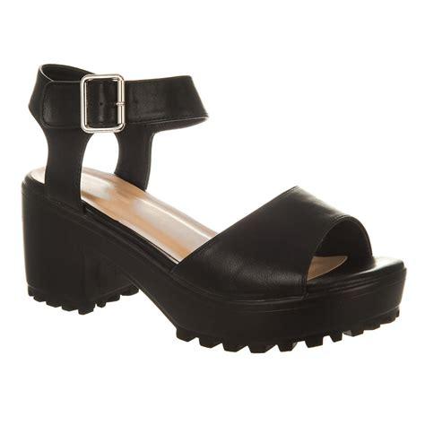 ankle block heel sandal low chunky block heel platform sole ankle sandal miss
