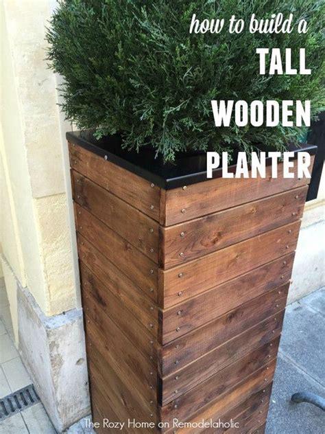 diy planter box ideas modern concrete hanging pot