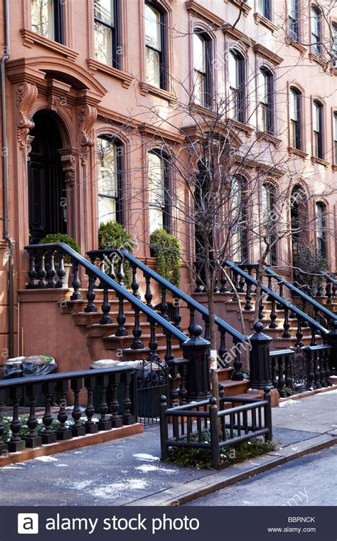 brownstone house nyc stoop houses brownstone houses new york stock photo royalty free image 24493299