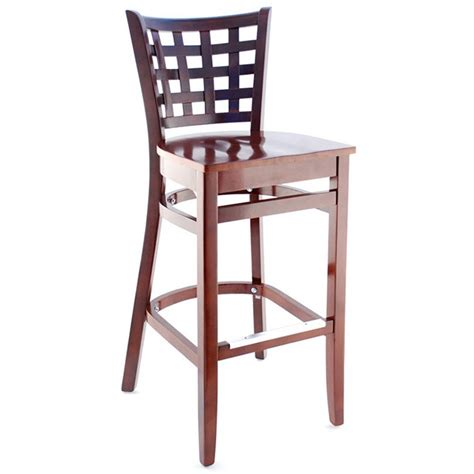 Mexican Painted Bar Stools by Mexican Painted Wood Bar Stool With Metal Panel On Back