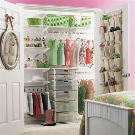 Closet Organization Store by White Elfa S Reach In Closet The Container Store
