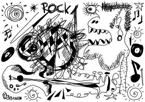 doodle god how to make rock and roll doodle rock stock illustration image of note