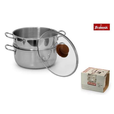 pentole per cucina a vapore frabosk set pentola cottura a vapore 3 pezzi 20 cm
