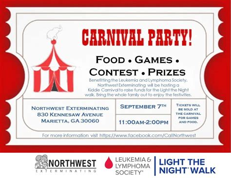 carnival party flyer carnival party atlanta pest control