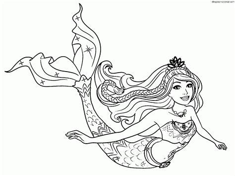 dibujos para colorear de barbie sirena y su delf n dibujos de barbie una aventura de sirenas para colorear