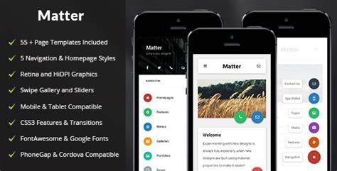 themeforest matter v1 0 mobile tablet responsive matter mobile tablet responsive template free download