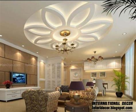 Different Ceiling Designs by 10 Unique False Ceiling Modern Designs Interior Living Room