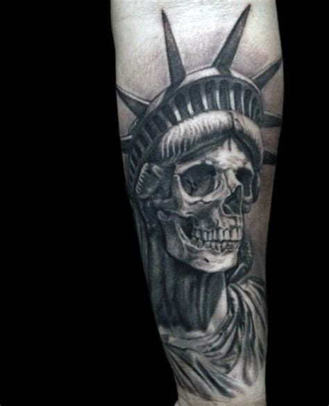 tattoo inspiration male forearm 70 statue of liberty tattoo designs for men new york city