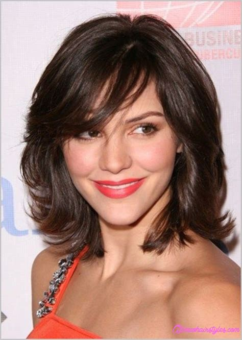 hairstyles for medium length hair side fringe medium length haircuts with side swept bangs and layers
