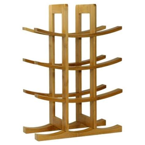 Wine Rack Home Depot by Oceanstar 12 Bottle Bamboo Countertop Wine Rack Wr1149