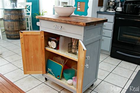 kitchen island microwave cart simple and inexpensive kitchen storage ideas 4 real